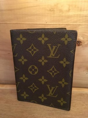 Louis Vuitton Porte-cartes brun-brun sable lin