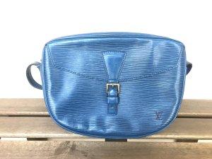 Louis Vuitton Gekruiste tas geel-blauw Leer