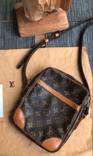 Louis Vuitton Sac porté épaule brun foncé-cognac