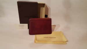 Louis Vuitton Portefeuille rouge carmin cuir