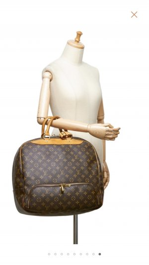 Louis Vuitton Sac weekender brun sable-gris brun tissu mixte