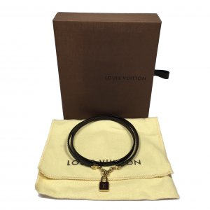 Louis Vuitton Wickelarmband, Kette Bordeauxrot Amarante Armband mit Box