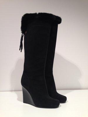 Louis Vuitton Wildleder WEDGE Stiefel mit Pelzrand