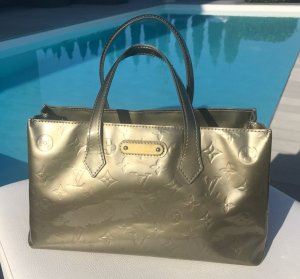 Louis Vuitton Sac à main argenté cuir