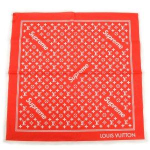 Écharpe en tricot rouge coton