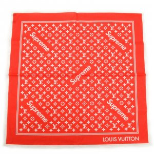 Knitted Scarf red cotton