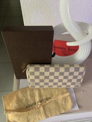 Louis Vuitton Zippy Portemonnaie Geldbeutel Damier Azur weiss grau