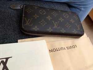 Louis Vuitton Wallet brown-gold-colored leather