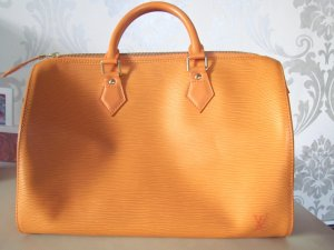 Louis Vuitton Sac bowling orange clair cuir