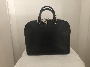 Louis Vuitton Sac seau noir-argenté cuir