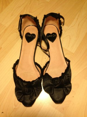 Mary Jane Ballerinas black imitation leather
