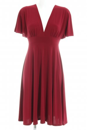 Love Vestido de manga corta rojo oscuro look casual