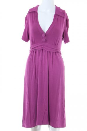 Love Kurzarmkleid violett Street-Fashion-Look