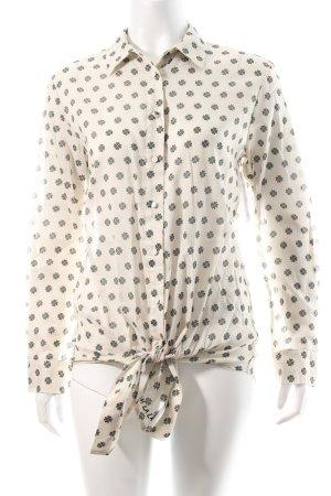Love Langarm-Bluse creme-khaki Monogram-Muster Boho-Look