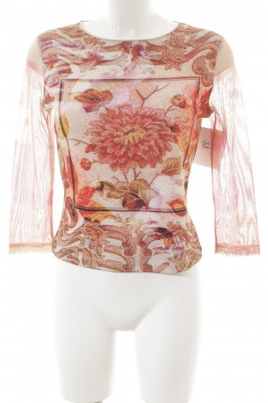 Love Longsleeve florales Muster Street-Fashion-Look