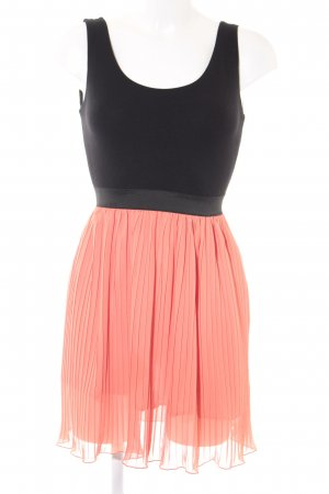 Love Minikleid orange-schwarz Casual-Look