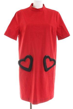 Love Moschino A-Linien Kleid rot-schwarz Casual-Look