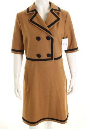 Love Moschino A-Linien Kleid schwarz-hellbraun grafisches Muster