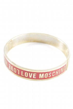 Love Moschino Bangle red-gold-colored printed lettering business style