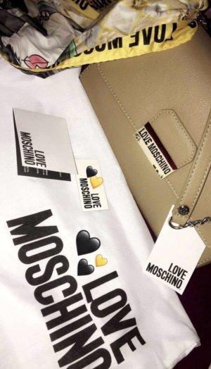 Love Moschino Borsa a spalla beige-oro