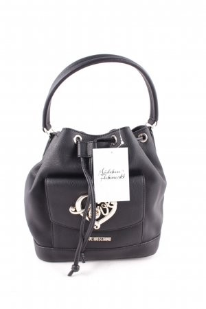 "Love Moschino Borsellino ""Grain Pu Bucket Bag Black"" nero"