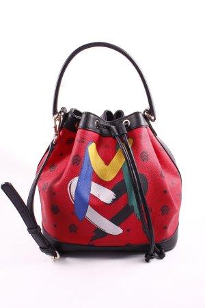 """Love Moschino Beuteltasche """"PVC Stampa Monogramma Bucket Bag Rosso"""""""