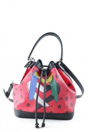 Love Moschino Pouch Bag red-black printed lettering extravagant style