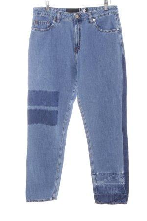 Love Moschino Boot Cut Jeans kornblumenblau-dunkelblau Casual-Look