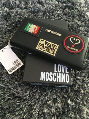 Love moschino clutch Geldbeutel bei schwarz Muster Designer Tasche
