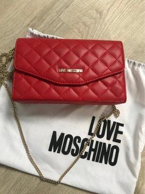 Love Moschino Pochette rouge foncé-doré faux cuir