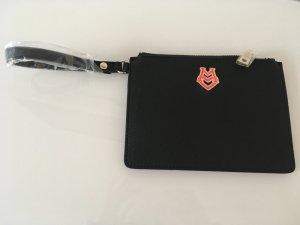 Love moschino clutch Tasche neu schwarz rot Blogger Party