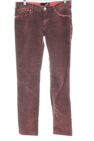 Love Moschino Pantalon en velours côtelé brun rouge-rouge brique
