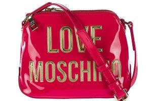 Love Moschino Shoulder Bag magenta polyurethane