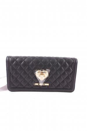 "Love Moschino Wallet ""Nappa Pu Trapunata Flap Wallet Nero "" black"