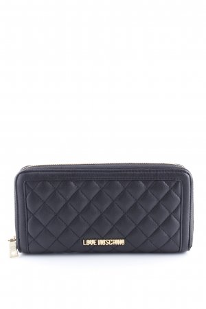 Love Moschino Wallet black-gold-colored elegant