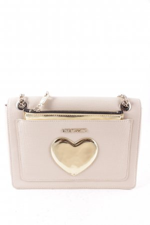 "Love Moschino Handtasche ""Borsa Thick PVC Gold Heart Crossbody Avorio"""