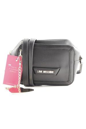 "Love Moschino Handbag ""Crossbody Bag Heart Metall Nero"" black"