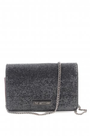 "Love Moschino Handtasche ""Glitter Crossbody Bag Metallic Nero"" schwarz"