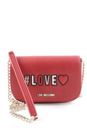 "Love Moschino Handtasche ""Love Chain Crossbody Bag Rosso"" dunkelrot"