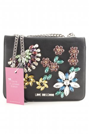 "Love Moschino Handtasche ""Nappa Crossbody Bag Strass Nero"" schwarz"