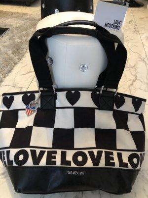 Love Moschino Bolso negro-blanco Cuero