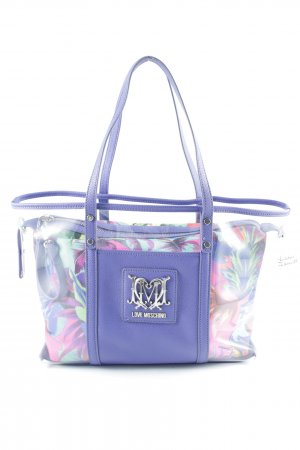 Love Moschino Carry Bag lilac floral pattern extravagant style