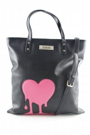 Love Moschino Carry Bag black-neon pink abstract pattern extravagant style