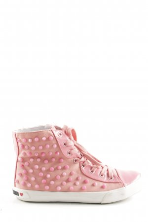 Love Moschino High Top Sneaker pink Casual-Look
