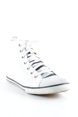 Love Moschino High Top Sneaker Schriftzug gedruckt Casual-Look
