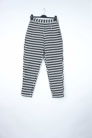 Love Moschino High Waist Trousers white-black
