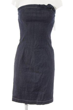 Love Moschino Vestido vaquero azul oscuro look Street-Style