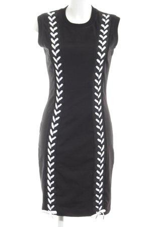 Love Moschino Jerseykleid schwarz-weiß Casual-Look