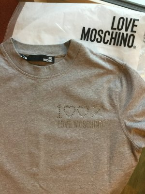 Love Moschino Vestido de tela de sudadera gris claro