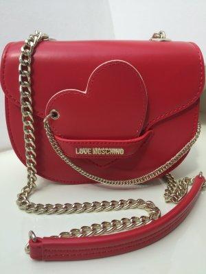 Love Moschino Sac bandoulière rouge brique
